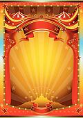 multicolor circus poster