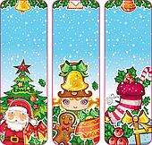 Christmas holiday vertical banners