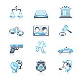 Law and order icons | MARINE series