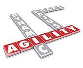 Agility Word Letter Tiles Dynamic Adapt Adjust
