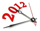 new year 2012 concept clock