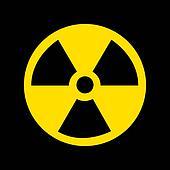 Nuclear Symbol on black