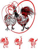 Love the Cock and Hen, postcard