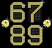 golden digital diamond alphabet new