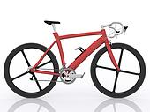 red race bike