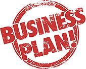 Business Plan Red Grunge Stamp Strategy Startup Company Mission