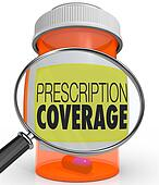 Prescription Coverage Magnifying Glass Medicine Bottle