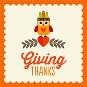 Thanksgiving Day card design