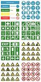 Hazard health & safety signs