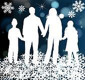 Christmas holiday happy family