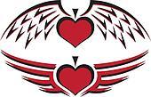 Winged Heart & Spade