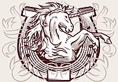 Unicorn Horseshoe Crest