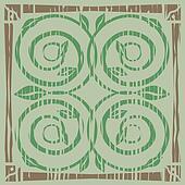 Spiral vine motif