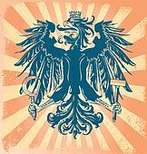 Eagle and shield heraldic vector