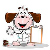 Cartoon doctor vet