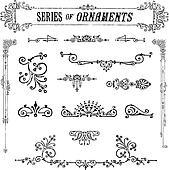 Vector Series of Vintage Ornaments