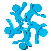 Happy Teamwork company symbol 3D