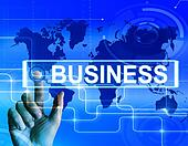 Business Map Displays International Commerce or Internet Company