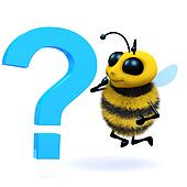 3d Honey bee question mark