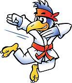 Bird Practices Self-Defense