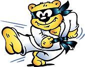 Tiger Practices Self-Defense