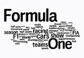 formula 1 word clouds