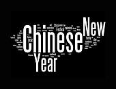 chinese new year text clouds