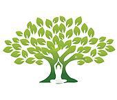 Yoga and tree