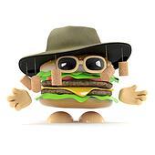 3d Australian beefburger