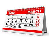 Calendar March 2016.