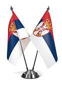 Serbia - Miniature Flags.