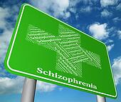 Schizophrenia Sign Means Poor Health And Disorders