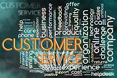 Wordcloud of customer service