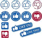 Social Media Like Stamps
