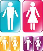 Male and female WC sign.