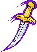 Medieval sharp dagger
