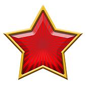 Red Star in Gold