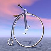 Penny farthing bicycle - 3D render