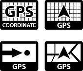 vector gps navigation coordinates symbols