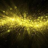 Glittering stars on bokeh background