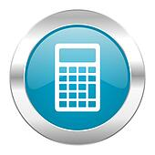 calculator internet blue icon