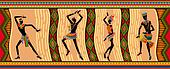 Ethnic dance african people