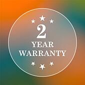 2 year warranty icon