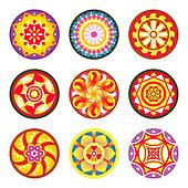 Indian floral patterns   Set 1