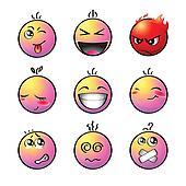 Rainbow smileys | Set 1
