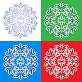 Abstract beautiful snowflakes
