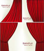 Set of backgrounds with red velvet