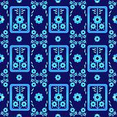 oriental style seamless pattern vector eight