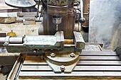 drill of old boring machine close up