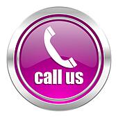 call us violet icon phone sign